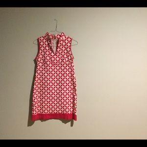 Jessica Howard red+white dress - size 4